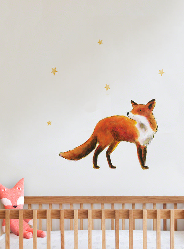 Fox Fabric Wall Decal