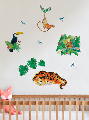 Jungle Jumble Fabric Wall Decal