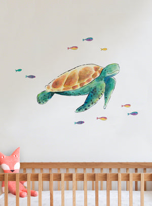 Sea Turtle Fabric Wall Decal