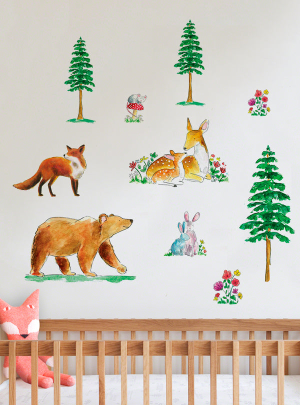 Woodland Walk Fabric Wall Decal
