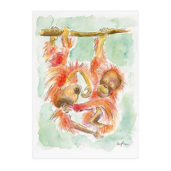 Burt & Sally the Orangutans - Raewyn Pope Illustration