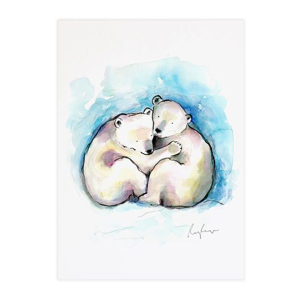 Poppy & Percy the Polar Bear Cubs - Raewyn Pope Illustration