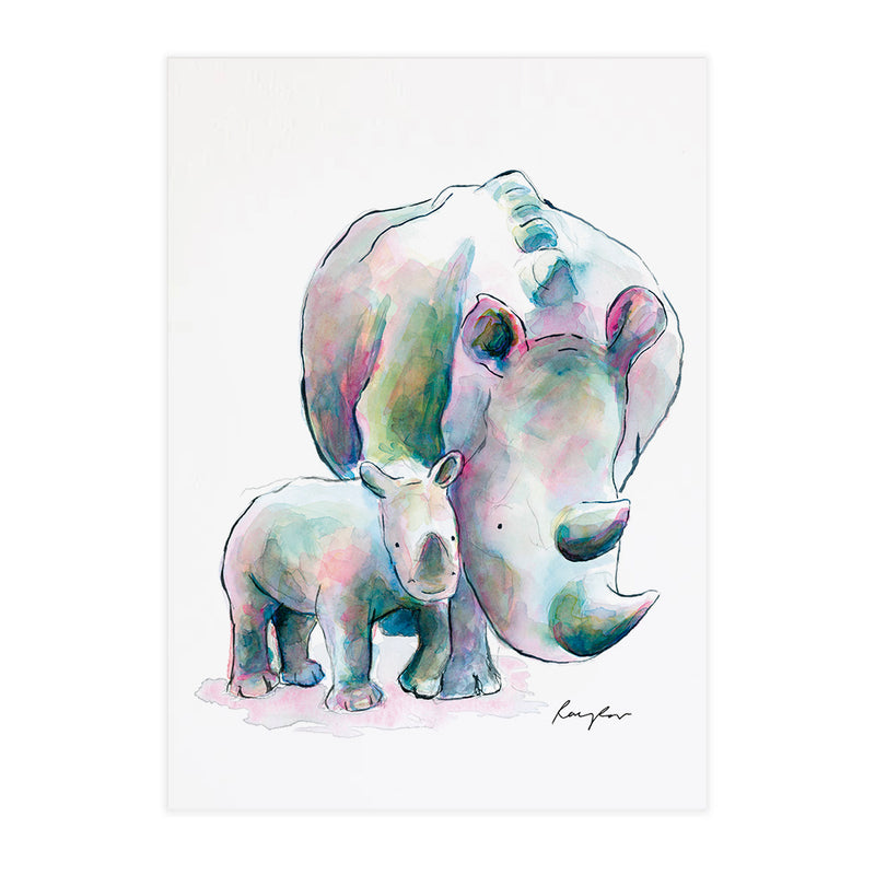 Wendy & Trudy the Rhinos - Raewyn Pope Illustration