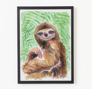 Peter the Sloth - Raewyn Pope Illustration