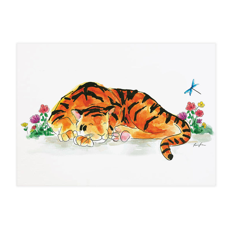 Gus the Tiger - Raewyn Pope Illustration
