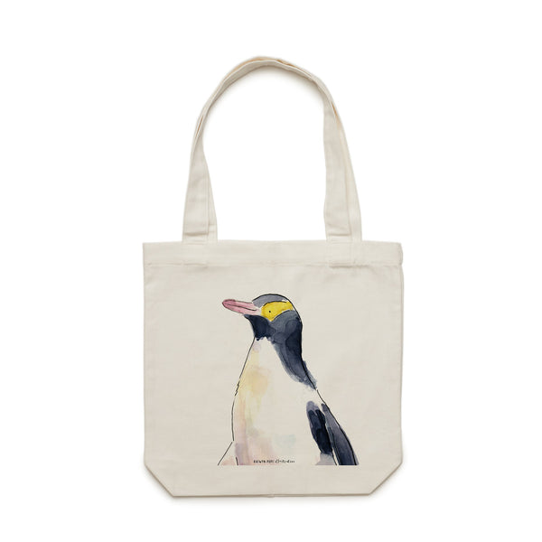 Yellow Eyed Penguin Tote Bag - Raewyn Pope Illustration