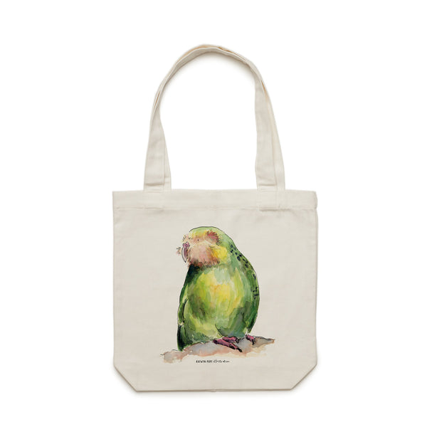 Kākāpō Tote Bag - Raewyn Pope Illustration
