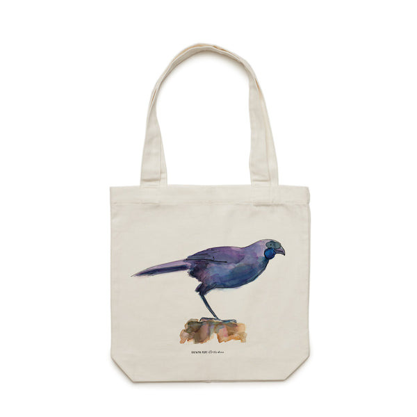 Kōkako Tote Bag - Raewyn Pope Illustration