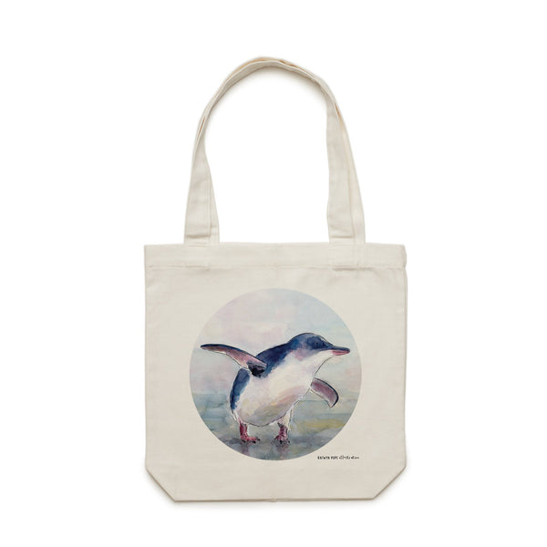 Little Blue Penguin Tote Bag - Raewyn Pope Illustration