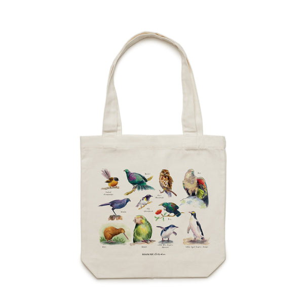Birds of NZ Tote Bag - Raewyn Pope Illustration