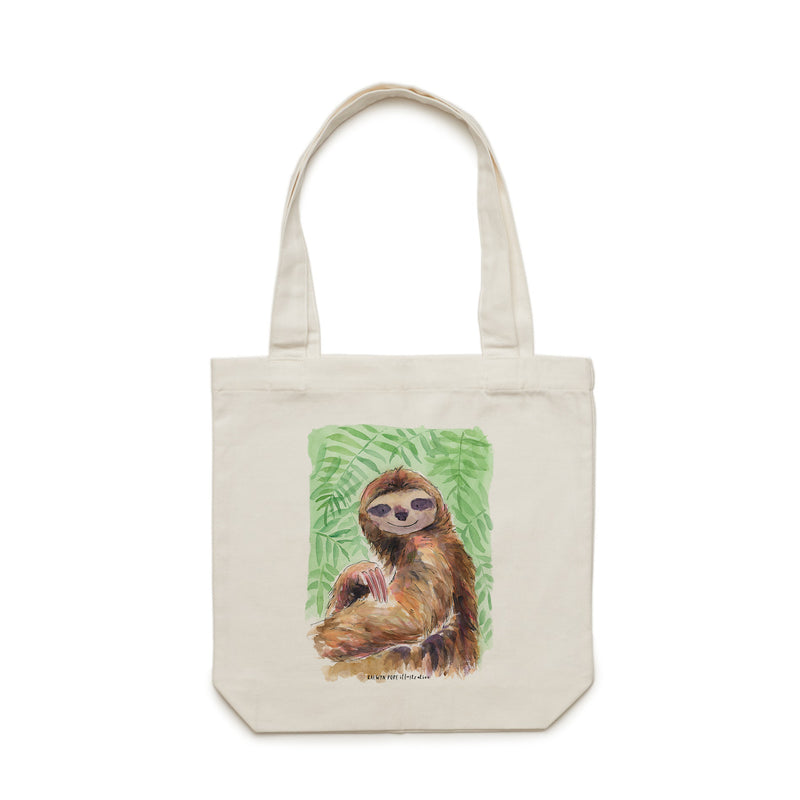 Sloth Tote Bag - Raewyn Pope Illustration