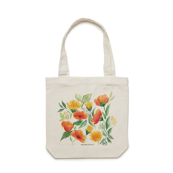 Spring Wildflowers Tote Bag - Raewyn Pope Illustration