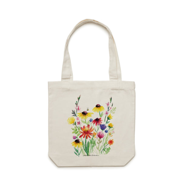 Summer Wildflowers Tote Bag - Raewyn Pope Illustration