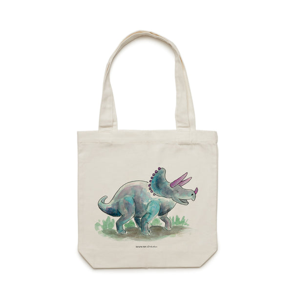 Triceratops Tote Bag - Raewyn Pope Illustration