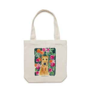 Whippet in the Flowers Tote Bag - Raewyn Pope Illustration