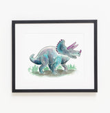 Tracy the Triceratops - Raewyn Pope Illustration