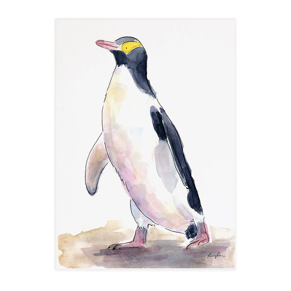 Yellow Eyed Penguin (Hoiho) - Raewyn Pope Illustration