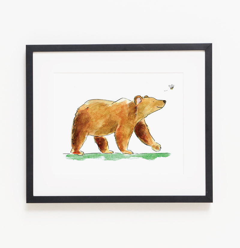 Benji the Bear - Raewyn Pope Illustration