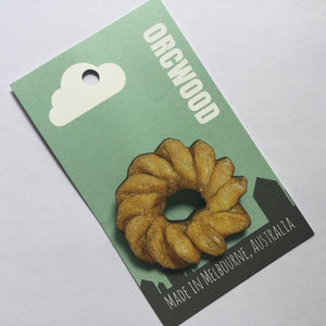 Donut Wood Brooches