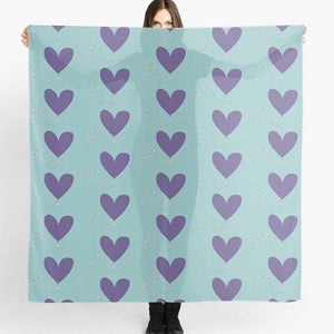 Original Art Print Scarf - Heart Kite