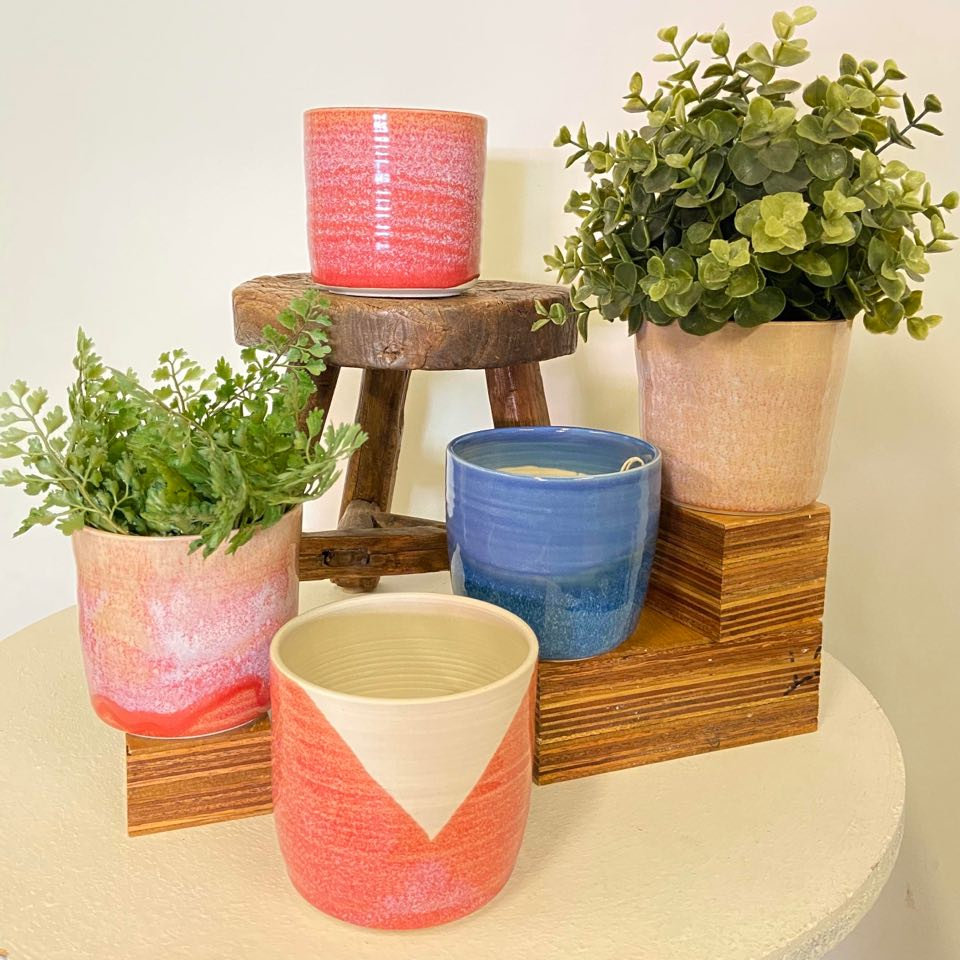 Ceramic Handthrown Planters (small)