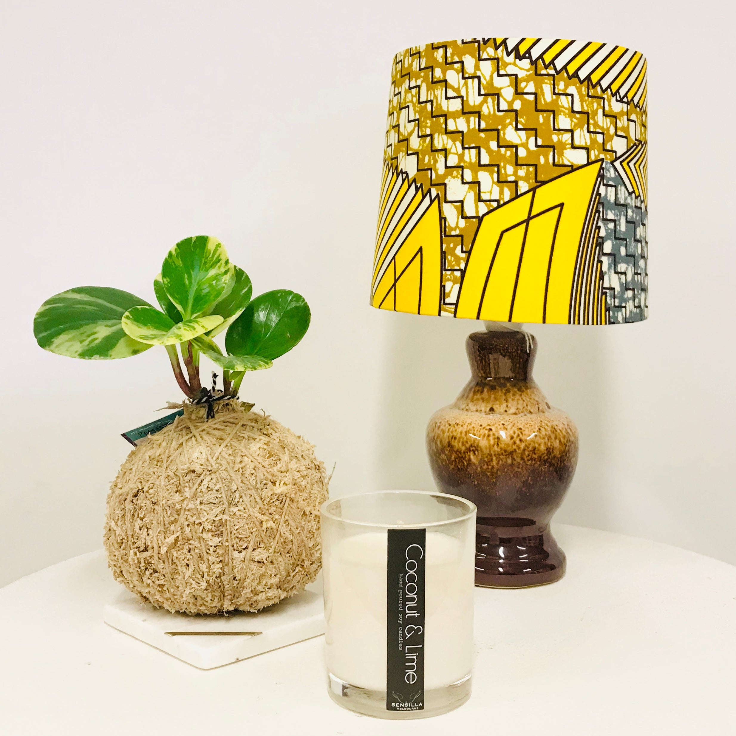 Custom Lamp Shade only - African Wax Yellow