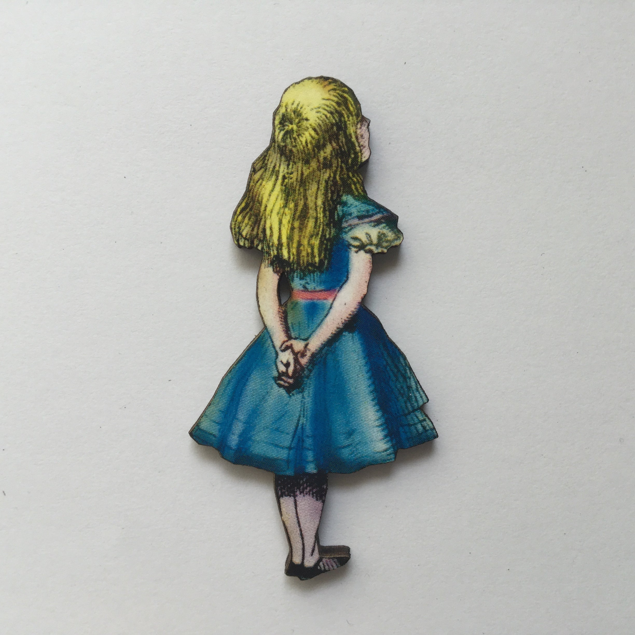 Alice in Wonderland Wood Brooches