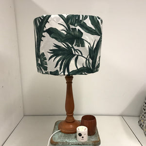 Custom Lamp Shade only - Dark Leaves on White