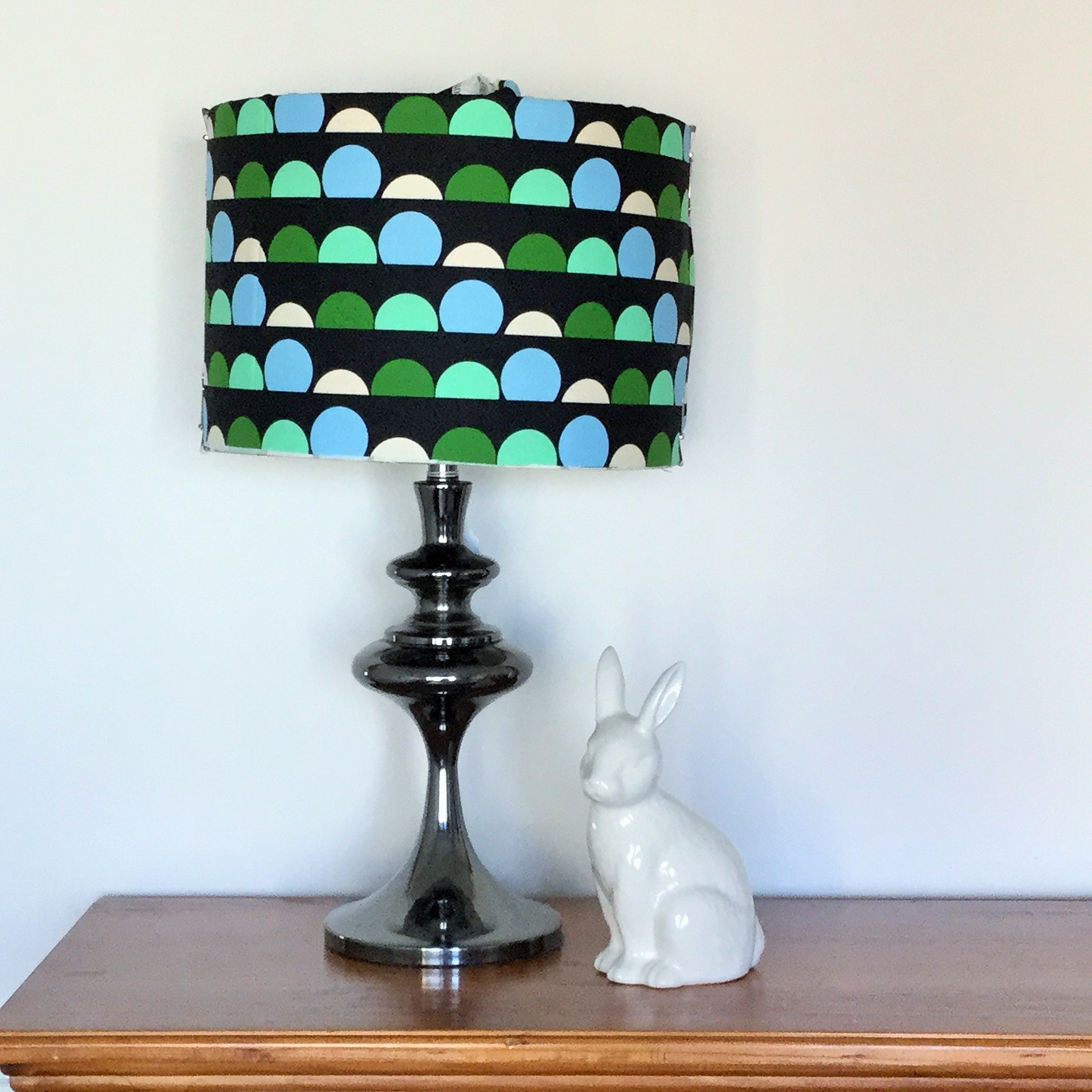 Custom Lamp Shade only - Spheres on Black