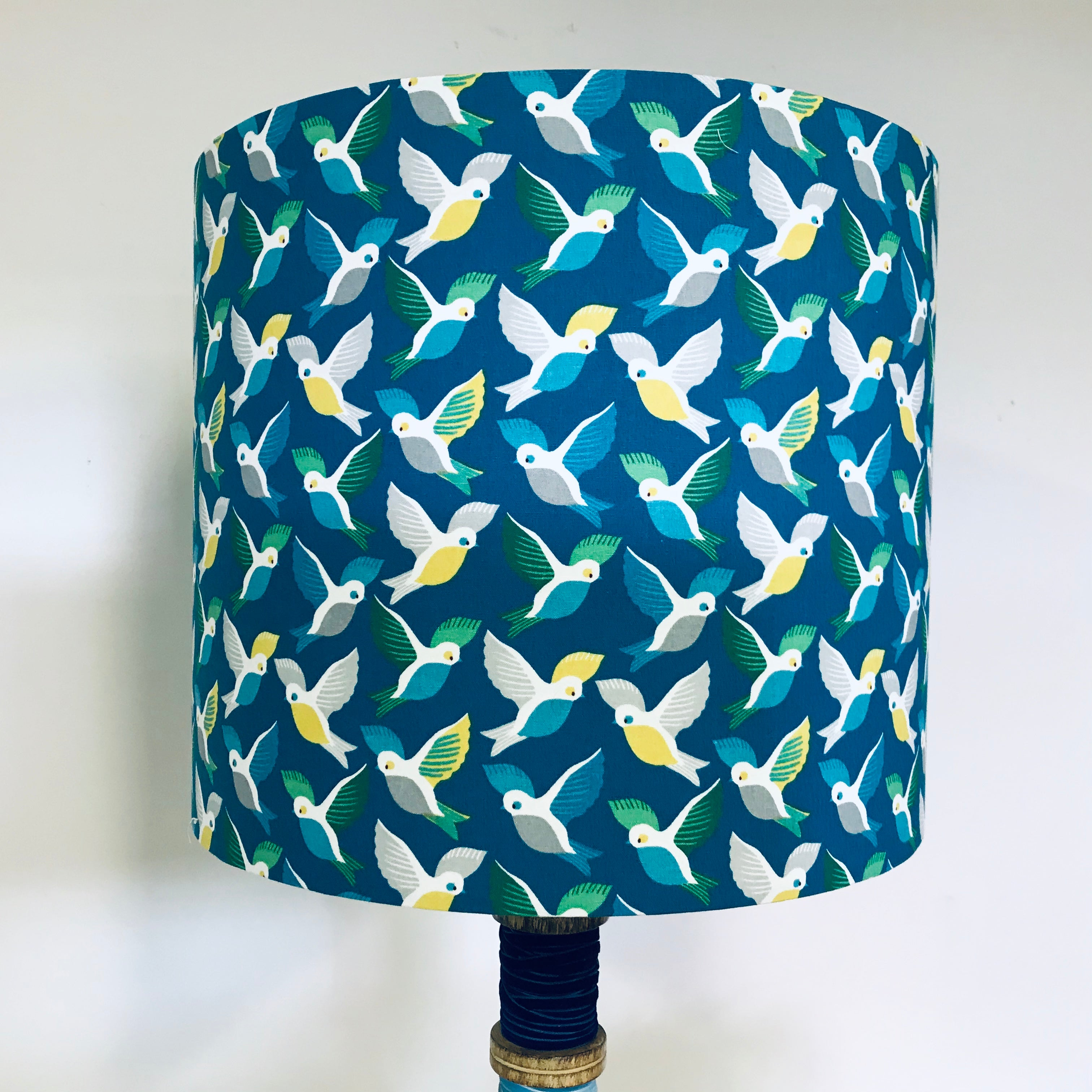 Custom Lamp Shade only - Blue Birds