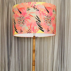 Custom Lamp Shade only - Neon Leaves