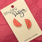 Hand Painted Half Circle Stud Earrings (HS)