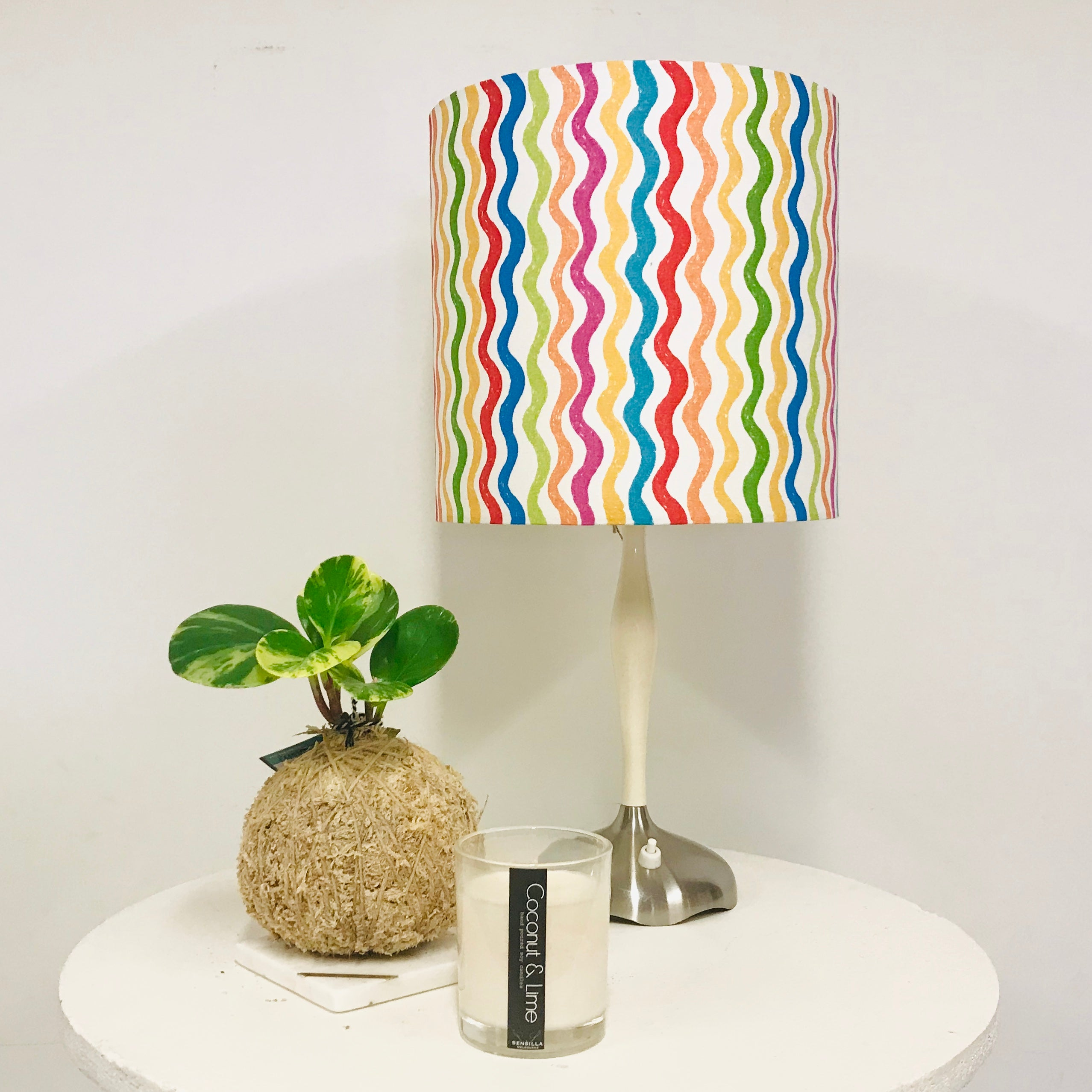 Custom Lamp Shade only - Rainbow Waves