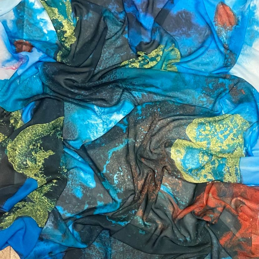 Original Art Print Scarf - Deep Sea