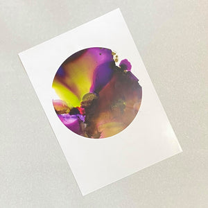 Original Art Print: Alcohol Ink - Purple Haze (Circular)
