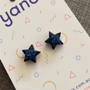 Star Laser Cut Timber Stud Earrings