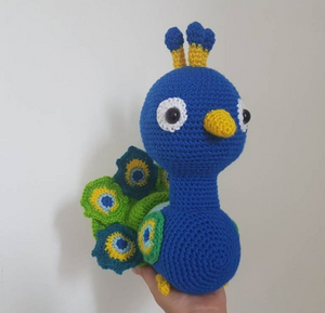 Peacock Crochet Toy