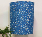 Custom Lamp Shade only - Stain Glass (blue)
