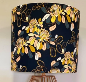 Custom Lamp Shade only - Dark Floral