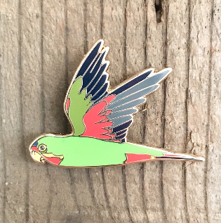 Enamel Lapel Pin - Swift Parrot