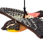 Spotted Pardalote, Hand Printed Wooden Bird Mobile