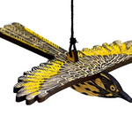 Hand Printed Wooden Bird Mobile - New Holland Honeyeater