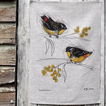 Spotted Pardalotes Linen Tea Towel