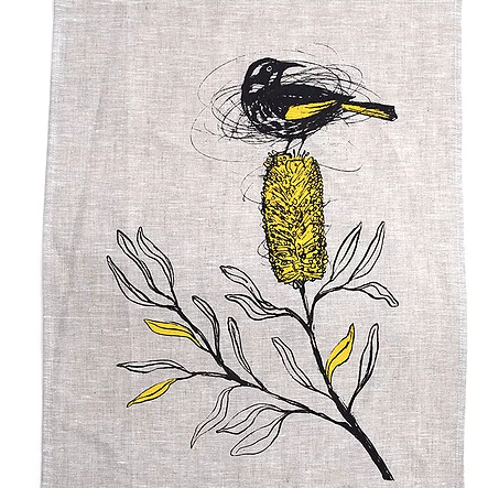 New Holland Honeyeater Linen Tea Towel