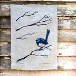 Linen Tea Towel - Superb Fairy Wren