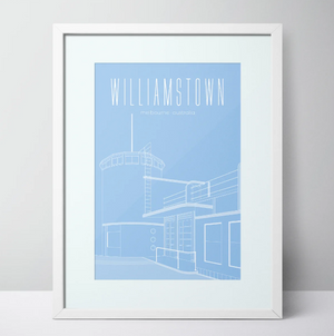 Williamstown Beach Dressing Pavilion Limited Edition Unframed Prints