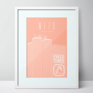 WEFO (West Footscray) Uncle Toby's Limited Edition Print