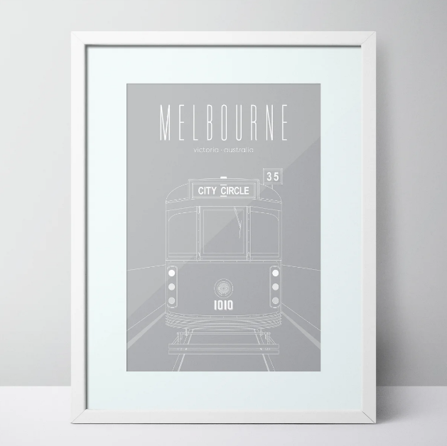 City Circle Tram - Melbourne Limited Edition Unframed Print