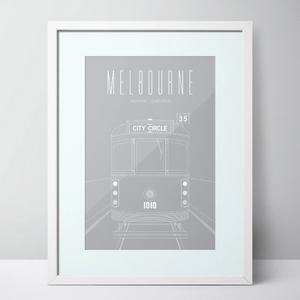 City Circle Tram - Melbourne Limited Edition Print