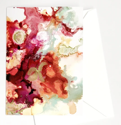 Alcohol Ink Greeting Cards